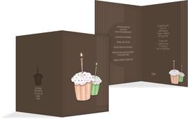 Birthday Party Invitations - Muffin Time - Orange (K20)