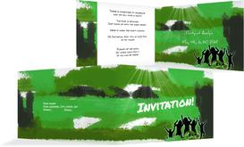 Birthday Party Invitations - Partylight - Green (K19)