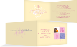 Confirmation Invitations - Christian Fish - Pink (K19)