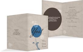 Wedding Invitation cards - Fantasyflower 2 - Blue (K20)
