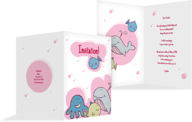 Birthday Party Invitations - Undersea - Pink (K20)