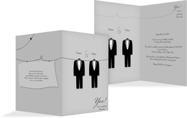Wedding Invitation cards - Suits - Pink (K20)