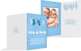 Birth Announcement card - It's a boy! - Blue (K20)