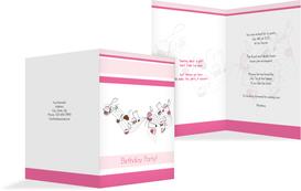 Birthday Party Invitations - Sweet Music - Pink (K20)