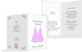 Wedding Invitation cards - Women2 - White (K20)