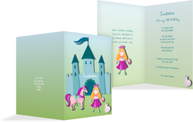 Birthday Party Invitations - Fairy Princess - Turquoise (K20)