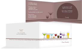 Birthday Party Invitations - Drinkfest - Purple (K19)