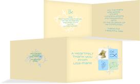 Communion Thank You cards - Christian Fish - LightBlue (K19)