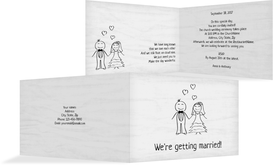Wedding Invitation cards - Sweet Love - Gray (K19)