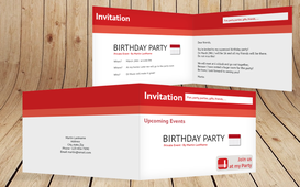 Birthday Party Invitations - I like it - Red (K19)