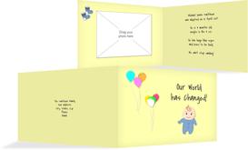 Adoption Announcement cards - Boy - Yellow (K19)
