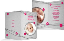 Baptism Invitation cards - Symbols - Pink (K20)