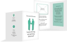 Wedding Invitation cards - Men2 - White (K20)