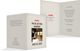 Wedding Invitation Cards - Vintage Hearts - Brown (K20)
