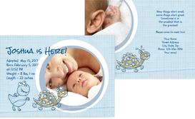 Adoption Announcement Cards - Circle - LightBlue (K25)