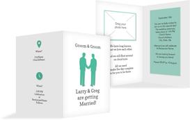 Wedding Invitation - Men - Silhouette - White (K20)