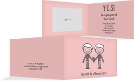 Wedding Invitation - Men - Drawing - Pink (K19)